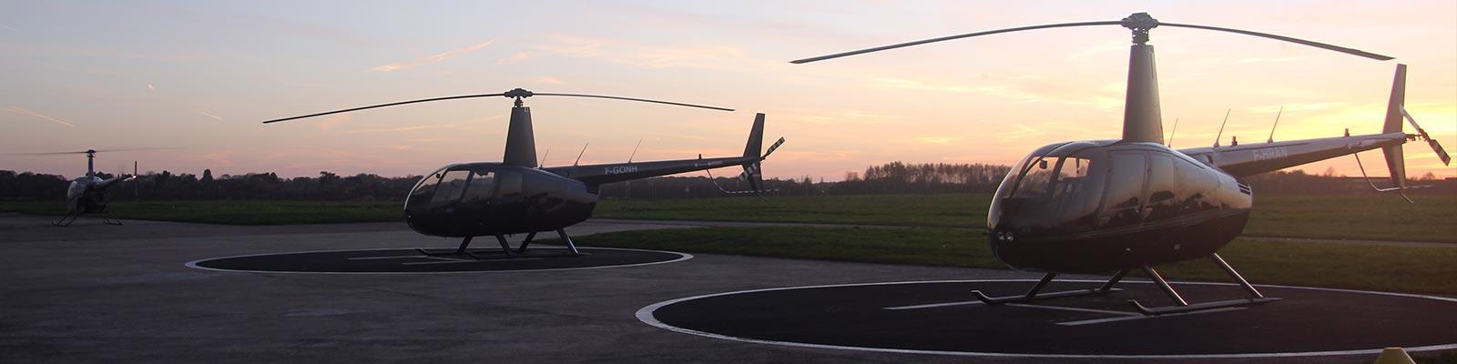 Licence de pilote privé d'Hélicoptère PPL/H - 2 Hélicoptères